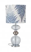 Ebb&Flow - Futura lampefot, topaz blue, Sølv base