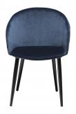 Danform Dual Spisebordstol - Midnattsblå Velur