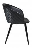 Danform Dual Spisebordstol - Vintage Sort Kunstlær