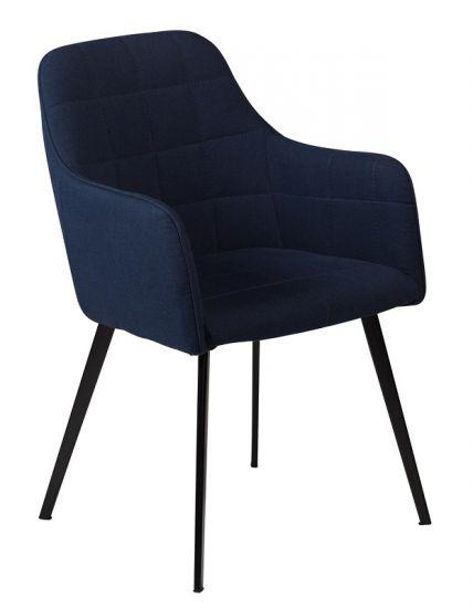 DAN-FORM - Embrace Spisebordsstol - Midnight blå stoff