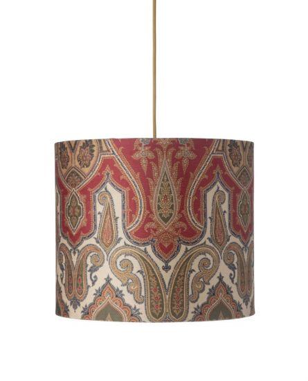 Ebb&Flow - Lampeskjerm, brocade, grønn/Gull, Ø35, taklampe