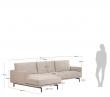 Kave Home Galene 3-pers. Sofa m. venstrevendt sjeselong - Beige