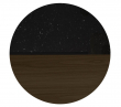 Temahome Sonata Sofabord - Sort Marmor/Brun, Ø80