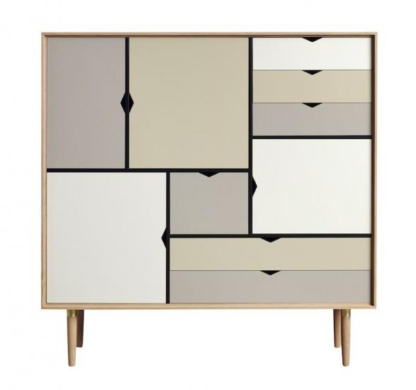 Andersen Furniture - S3 Høyskjenk - Eik hvitolje - Farge
