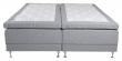 Vansbro 5-zoner Elevationsseng Medium/Medium, Lysegrå stoff, 180x200