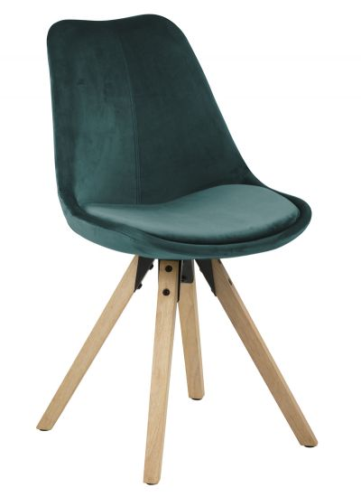 Fryd Spisebordsstol m/centerben - Flaskegrønn
