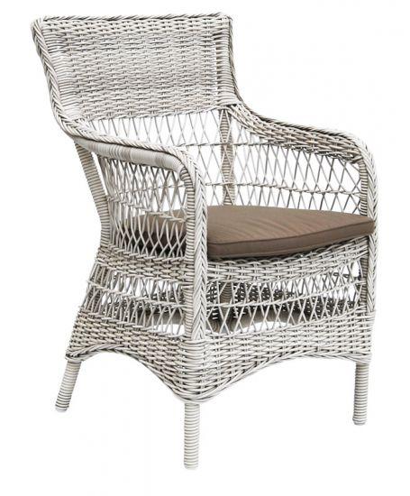Sika-Design - Marie Stol m. Armlen - Hvit
