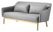 FDB Møbler L38 Gejsa 2-pers, Sofa - Lysegrå Melange