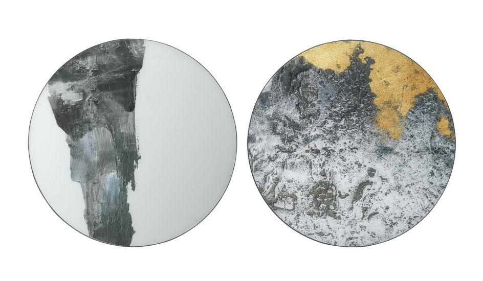 Ejnar Væg Kunst - Jern/Glas, Ø60