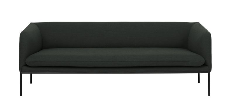 ferm LIVING - Turn Sofa 3 - Fiord - Solid Mørk Grønn