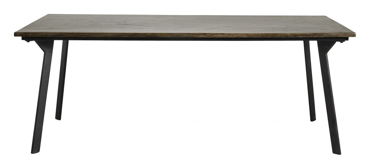 Nordal Chestnut Spisebord - Brun Høyglans, 90x200