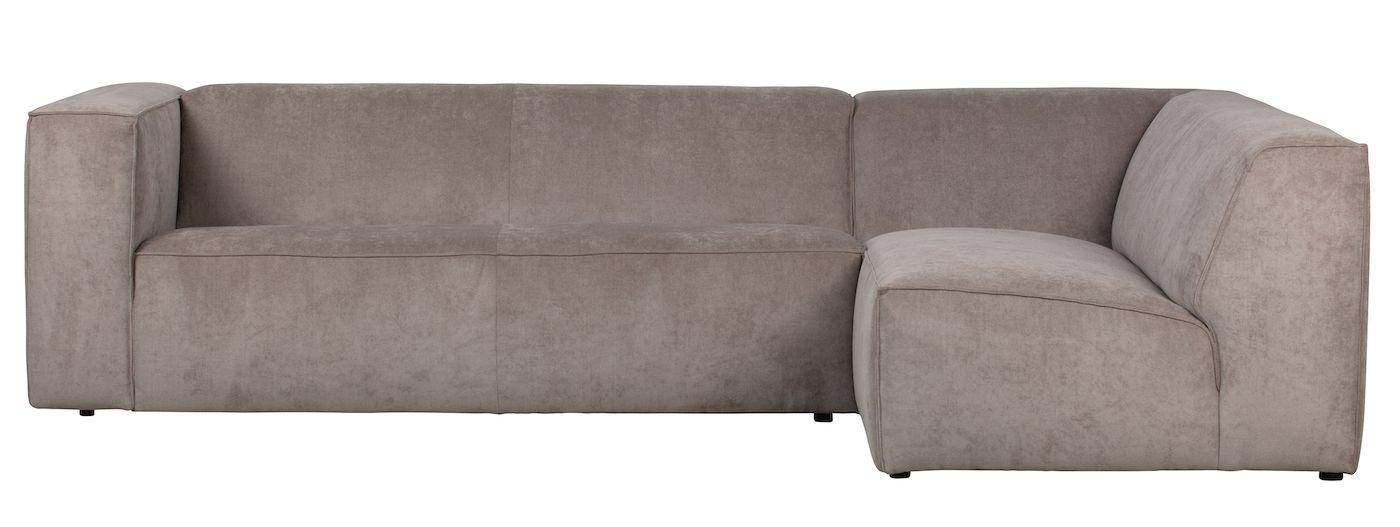 Lazy Sofa m. høyre Sjeselong - Khaki Fløyel