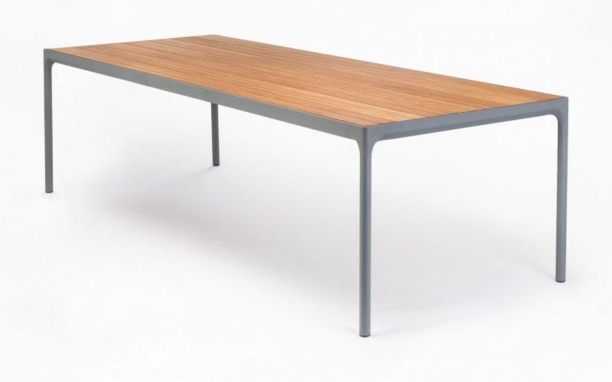 HOUE - FOUR Hagebord 210x90 - Mørk grå/Bambus