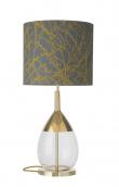 Ebb&Flow - Lute lampefot, Klar/Gull, Gull base
