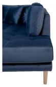 Lido U-sofa m, Åpen ende Venstrevendt - Mørkeblå