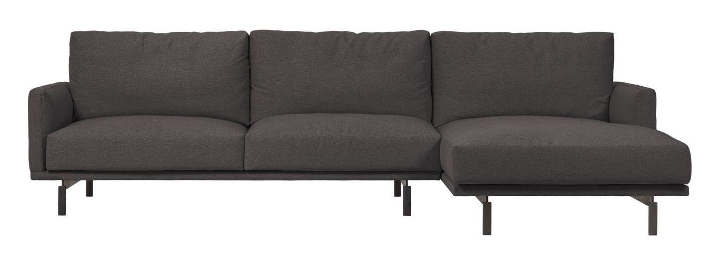 Kave Home Galene 3-pers. Sofa m. høyrevendt sjeselong - Mørk Grå