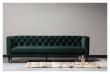 Woood Nisa 3-pers. Sofa - Mørkegrøn Velour