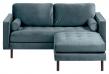 Kave Home Debra 2-pers. Sofa m. Puff - Turkis Velour