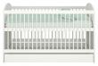 Babyseng inkl. oppbevaringsskuff og lameller, Hvit