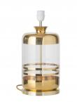 Ebb&Flow - Pillar lampefot, Gull stripes/Klar, Gull base