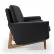 Kragelund Egsmark 3-seter sofa, Sort Lær