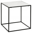 Nordal Cube Sidebord S - Hvit Marmor, 55x55
