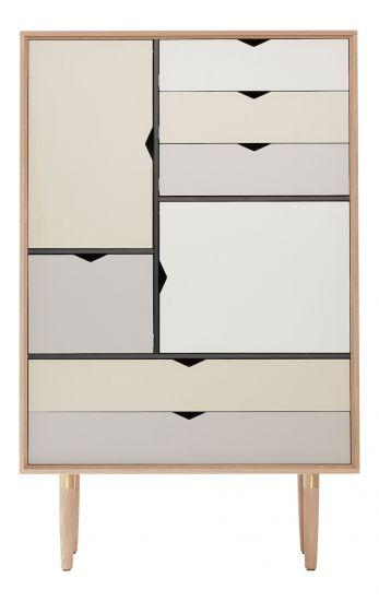 Andersen Furniture - S5 Høyskjenk - Eik hvitolje - Farge