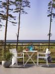 Brafab - Wilkie Cafebord Ø72 - Hvit alu