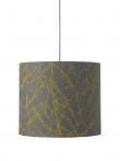 Ebb&Flow - Lampeskjerm, branches, grå/okker, Ø35