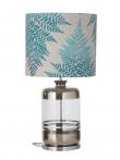 Ebb&Flow - Pillar lampefot, platin stripes/Klar, Sølv base