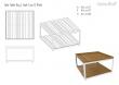 Cane-line - Level Sofabord Hvit, teak - 79x79