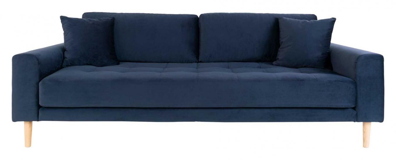 Lido 3-pers, Sofa - Mørkeblå Velour