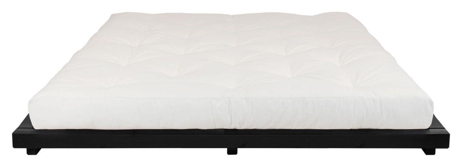 Dock Sengeramme Sort, Comfort Futon madrass, Offwhite, 160x200