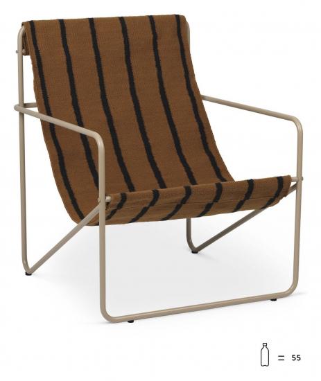 Desert Loungestol, Cashmere/Stripe