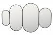 Pelle Spejl - Sort ramme, 84x51