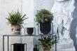 by Lassen - Kubus Flowerpot 23, sort metall