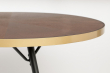 homii Denise Spisebord Ovalt - Brun/Gyllen, 180x90