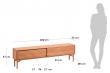 Kave Home Lenon Tvbord - Eik/Eikefinér, 200x55