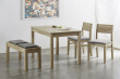 Norman Spisebordsstol sæt á 2 - Grå/Natur