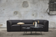WOUD - Soround sofabord i sort eik, H44/Ø75