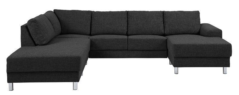 Johnston U-sofa - Antrasitt stoff - Venstre