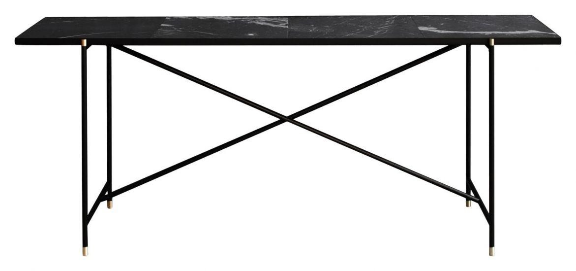 HANDVÄRK - Konsollbord - Svart Marmor m/messing ben