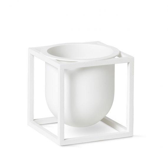 by Lassen - Kubus Flowerpot 10, hvit metall