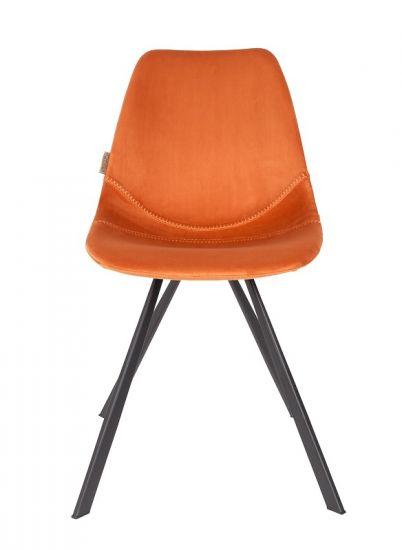 Dutchbone - Franky Spisebordsstol - Oransje fløyel