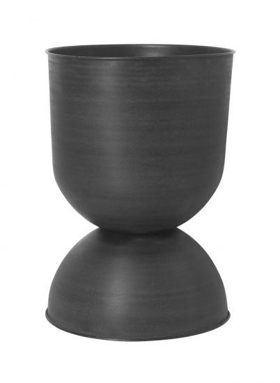 Ferm Living - Hourglass Krukke L - Sort/Mørk grå