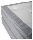 Rättvik 5-zoners Kontinentalseng Medium/Medium, Lysegrå stoff, 160x200