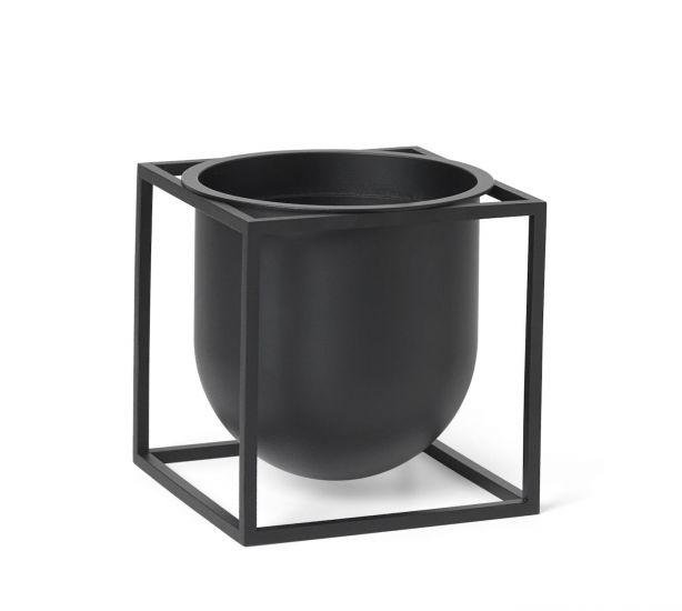 by Lassen - Kubus Flowerpot 14, sort metall
