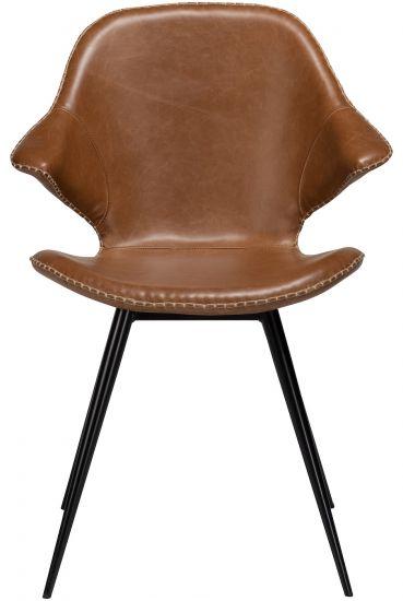 Danform Karma Spisebordstol - Vintage Lysebrun Kunstlær