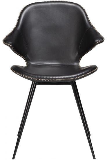 Danform Karma Spisebordstol - Vintage Sort Kunstlær