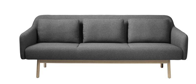 FDB Møbler - Gesja 3-seter Sofa - Grå
